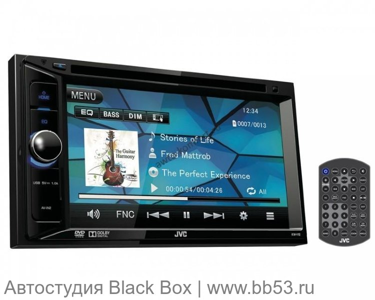 "JVC KW-V12 [6.2""/DVD/mp3/USB/AV In/AV Out/3 RCA out]"