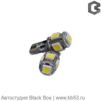 DIXEL PREMIUM CANBUS T10 (W5W) 5 5050 SMD, белый, 110Lm, 12V
