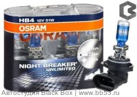 HB4/9006 Osram NIGHT BREAKER UNLIMITED +110% 9006NBU-HCB [EUROBOX 2 шт. 51W 1000Lm P22d+110%]