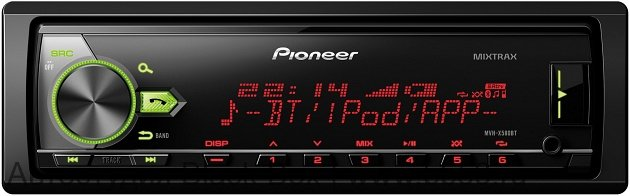 Pioneer MVH-X580BT [ПРОЦЕССОР/без CD/MIXTRAX/mp3/BT/front USB/3 RCA out/любая подсв./2016]