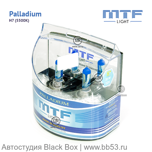 H7 MTF Light Palladium 4693K [EUROBOX 2 шт. 55W 468Lm PX26d]