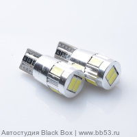DIXEL T10 (W5W) CANBUS 6 5630 SMD, белый, 12-24V