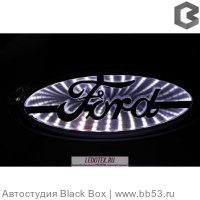 Эмблема Ford White 14.5*5.6 Ledotex комплект 1шт