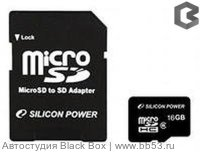 Silicon Power 16Gb [Micro SDHC-карта с адаптером класс 10]