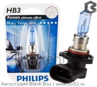 HB3/9005 Philips BLUE VISION [блистер 1шт. 55W P20d]