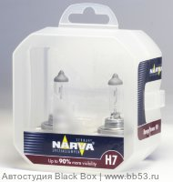 H7 Narva RANGE POWER +90% 48047S2 [EUROBOX 2 шт. 55W PX26d]
