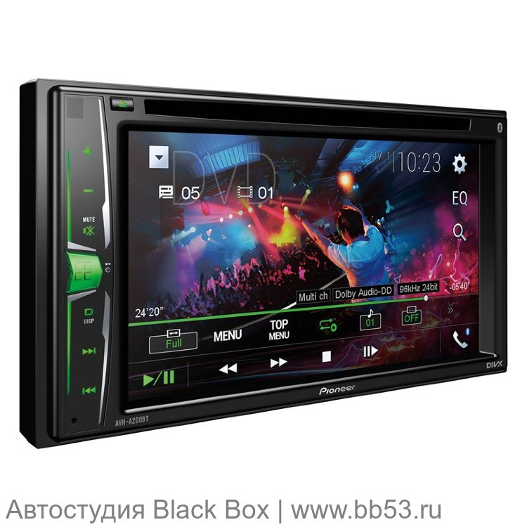 "Pioneer AVH-A200BT-K  [6,2"" WVGA/DVD/BT/USB/AUX/2 AV In/3 RCA out/любая подсветка/2018]"