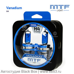 H4 MTF Light Vanadium 4250/4158K [EUROBOX 2 шт. 60/55W 991/690Lm P43t-38]