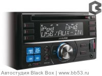 Alpine CDE-W233R [ЖК дисплей/mp3/front USB/AUX/1 RCA out sub control]