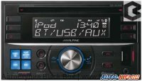 Alpine CDE-W235BT [ЖК дисплей/mp3/front USB/Bluetooth/AUX/1 RCA out sub control/4 цвета подсветки]