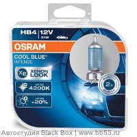 HB4/9006 Osram COOL BLUE INTENSE 4200K +20% 9006CBI [EUROBOX 2 шт. 51W 1000Lm P22d]